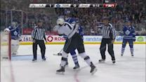 Jordan Nolan and Frazer McLaren scrap