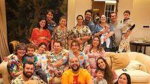 Silvio Santos comemora 87 anos com festa do pijama