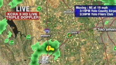 Thunderstorm Passes Over Vacaville
