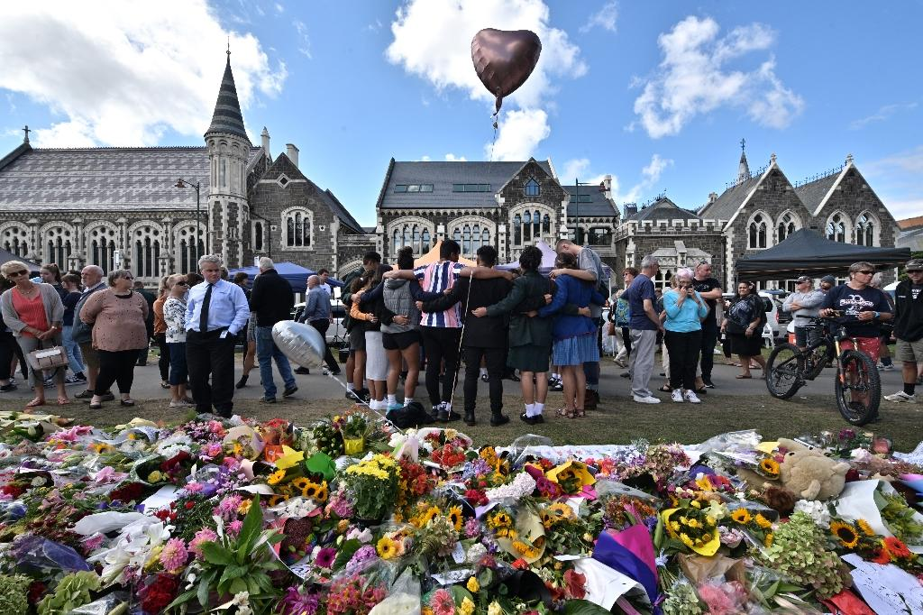 New Zealand PM Ardern has vowed that the Christchurch mosque killer will face the 'full force of the law' (AFP Photo/Anthony WALLACE)