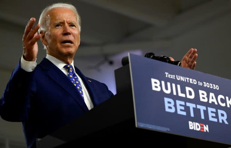 Presumptive Democratic presidential nominee Joe Biden said he will make his choice of running mate next week (AFP Photo/ANDREW CABALLERO-REYNOLDS)