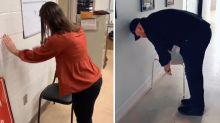 """""""Chair Challenge"""": Für Frauen einfach, für Männer nicht zu schaffen"""