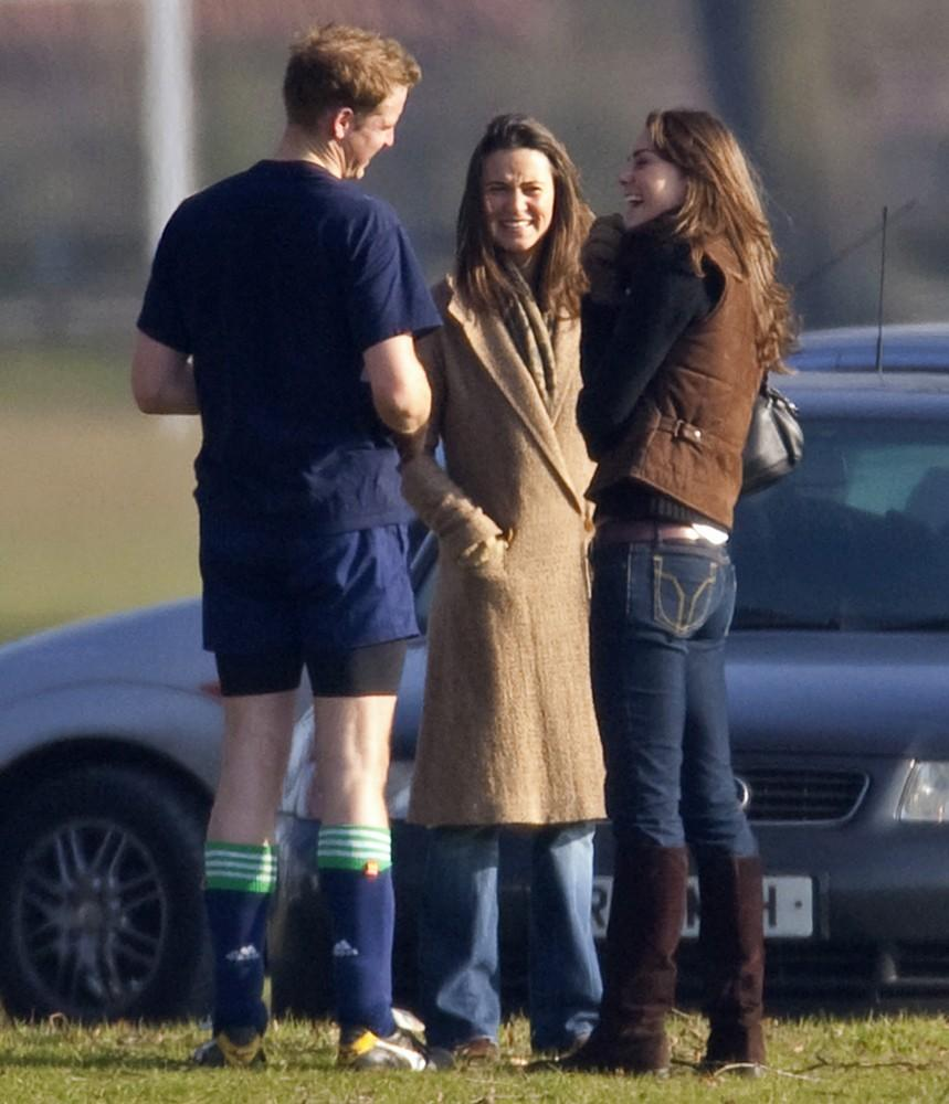 Wills made Kate laugh after she and her sister watched him play in a field game at Eton College.