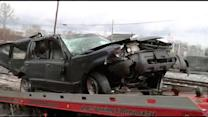 SUV falls from Pa. Turnpike overpass in Montco during snow (PHOTOS)