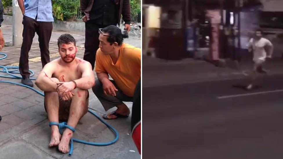 Aussie tourist arrested in Bali after fly kicking random scooter rider in bizarre rampage