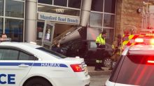 Car smashes through front of BMO branch in Halifax