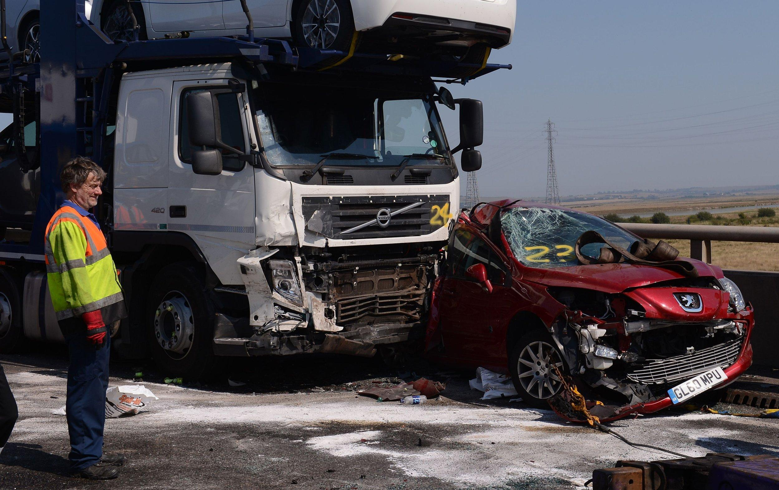 More than 100 cars involved in pile-up on Sheppey Bridge