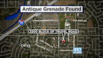 Police: Antique Grenade Discovered By Landscapers In Natomas