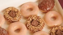 Krispy Kreme Just Dropped 2 Snickers Donuts With Roasted Peanuts and Nougat Pieces