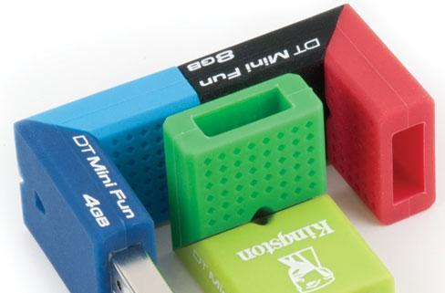 Kingston's DataTraveler Mini Fun USB flash drives: they're small and thrilling