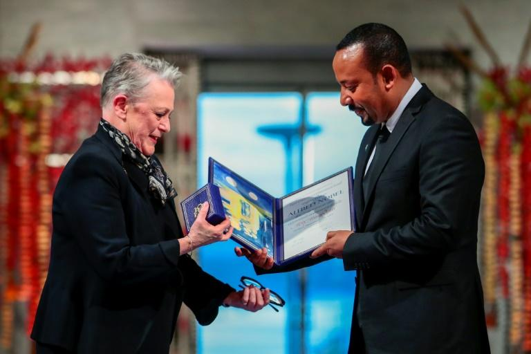 Ethiopia's Abiy Ahmed receives Nobel peace prize
