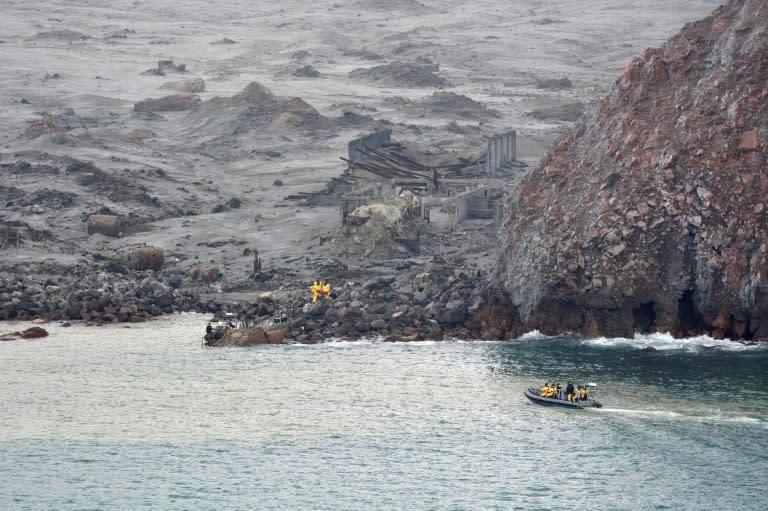 Elite soldiers retrieved bodies from White Island last week (AFP Photo/Handout)