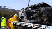 Girl, nine, and her father among three killed in horror crash