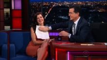 'Playboy' Cover Model's Embarrassing 'Late Show' Wardrobe Malfunction