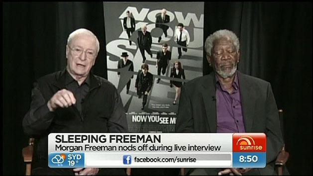 Freeman nods off during interview