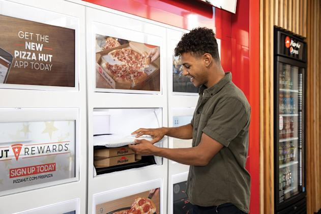 Pizza Hut tests Amazon Locker-style 'cubbies' for carryout orders