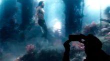 ¡Aquaman en acción! Primer vistazo del héroe oceánico bajo el mar
