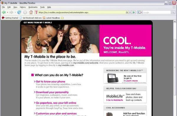 G1 appears on T-Mobile's site