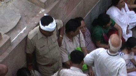 Stampede at Mathura temple,2 women dead
