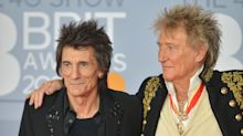 Sir Rod Stewart marks relaxing of social distancing rules with Ronnie Wood hug