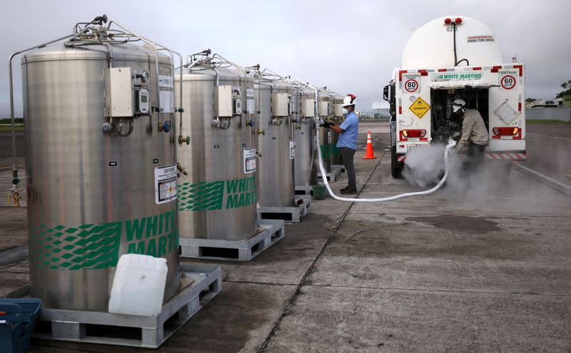 Oxygen arrives in Brazilian state overwhelmed by COVID-19