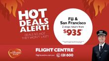 Flight Centre Hot Deal Alert: Fiji and San Francisco