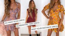 'Go away Rona': Fashion brand slammed for coronavirus-themed line