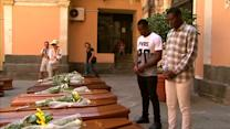 Funeral for migrants killed in shipwreck