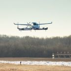 Boeing's passenger air vehicle prototype rises into the sky for its first test flight