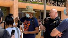 Tarrant County deputies, officials clash with protesters over ICE enforcement in jails