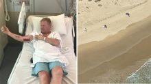 Pictured: The man who fought off shark by punching it underwater