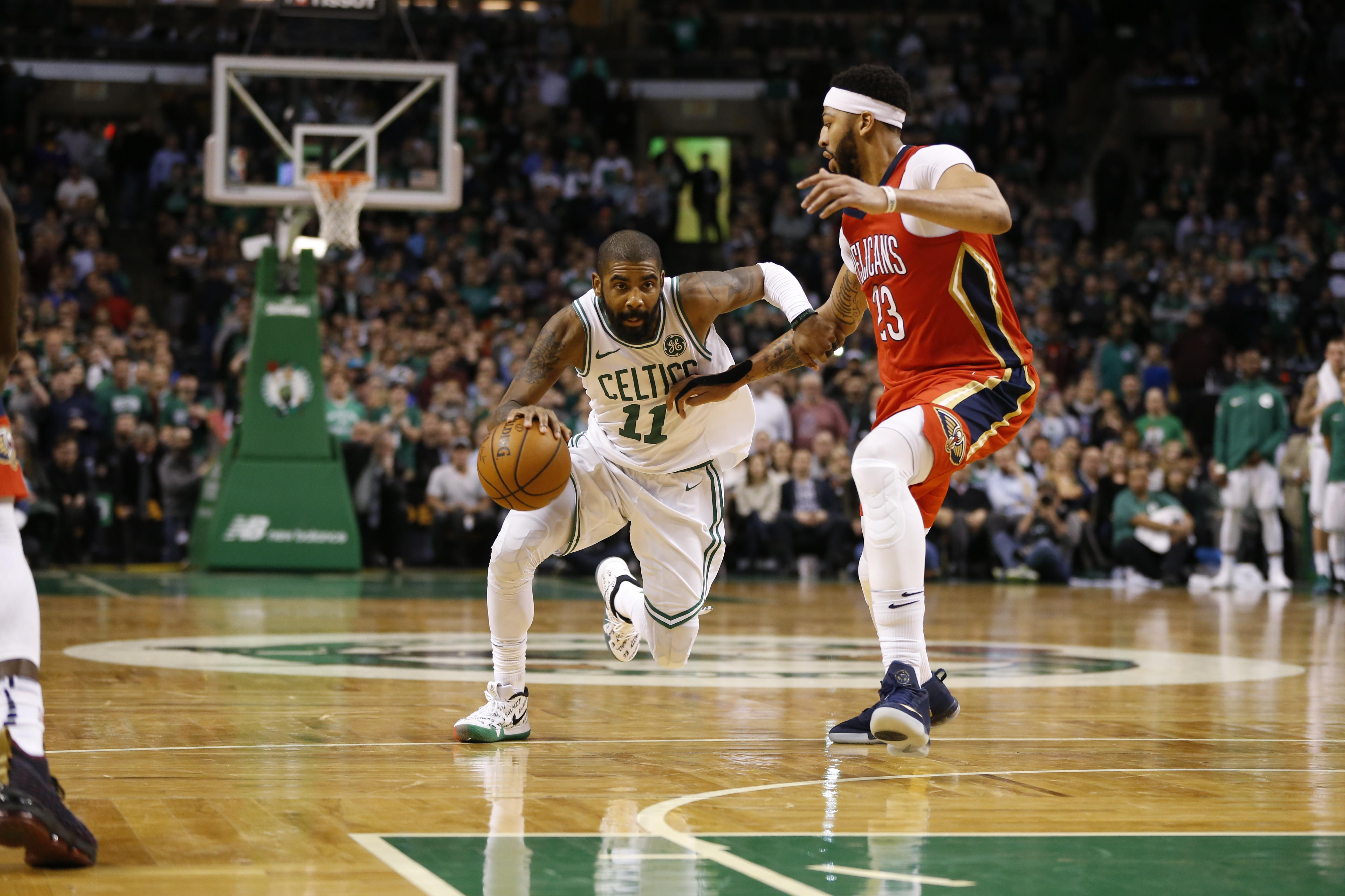 Kyrie Irving gives brief response to Anthony Davis' latest Celtics comments