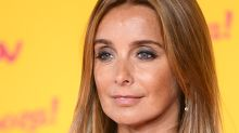 Louise Redknapp looks amazing in chic tux jumpsuit and lace bra at ITV party