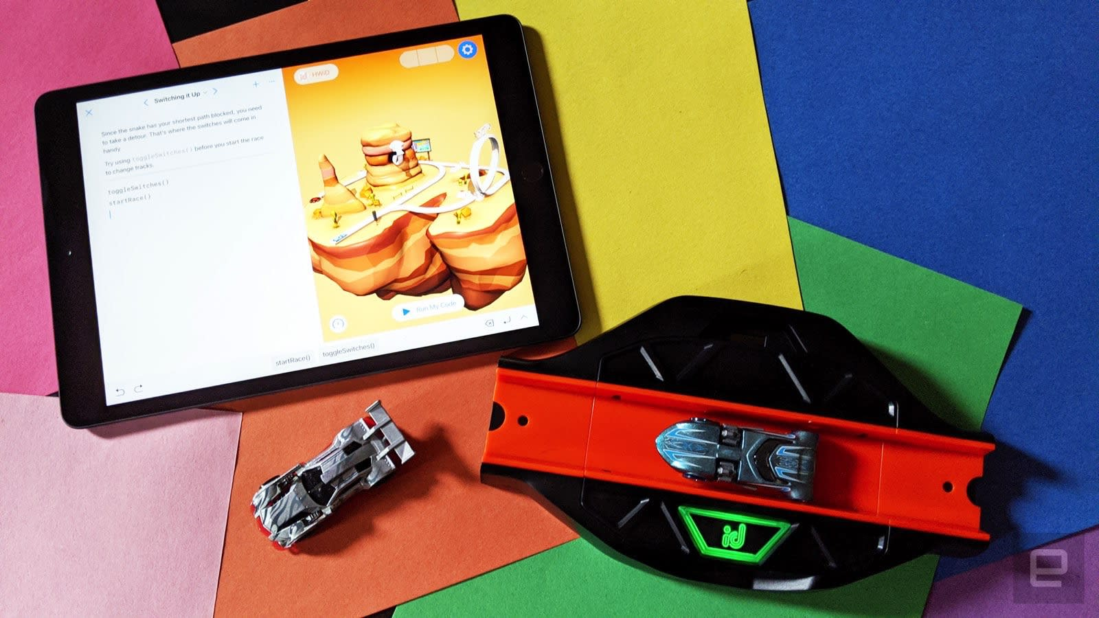 The new Hot Wheels coding kit requires fine motor skills updated