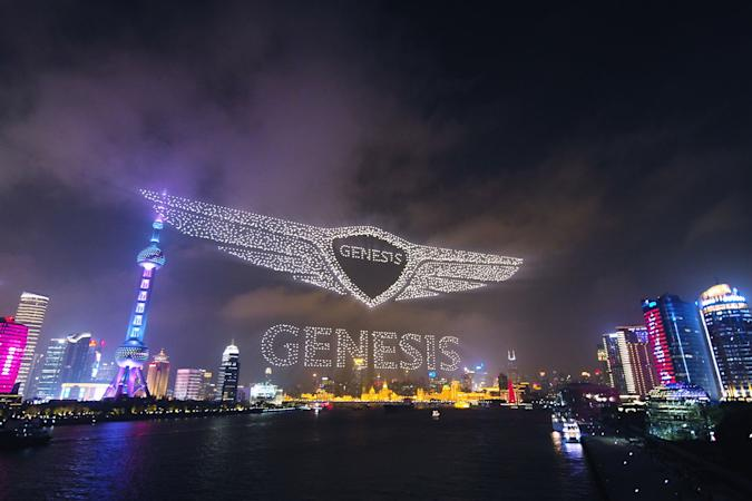 Genesis sets world record for most drones airborne at the same time