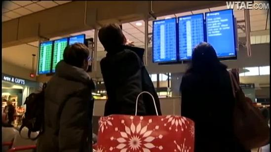 Travelers see flights canceled at Pittsburgh International Airport