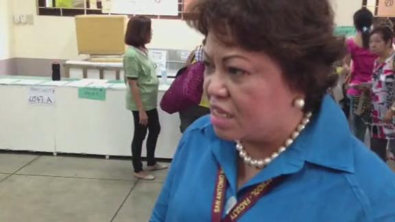 Principal explains why she allowed senior citizens and PWDs to vote in a special area without the Comelec's approval.