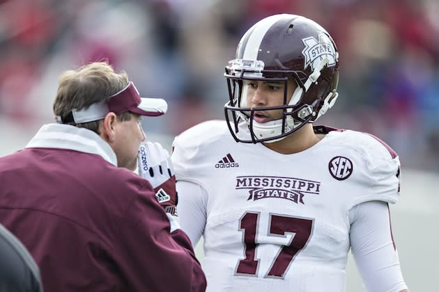 Mississippi State Quarterback Ankle >> QB Tyler Russell's career at Mississippi State ends with shoulder surgery
