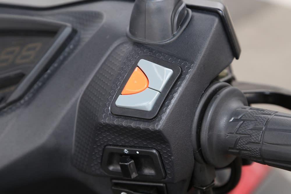 龍頭右側設有Noodoe 操作按鈕。