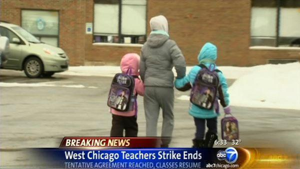 West Chicago teachers strike over, class resumes