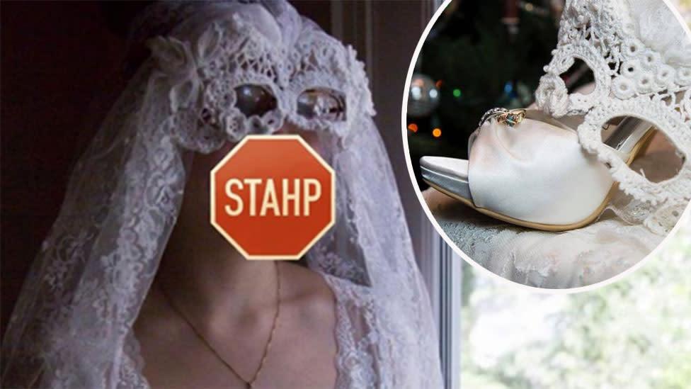Bride's bizarre 'bridal batman' veil sparks ridicule