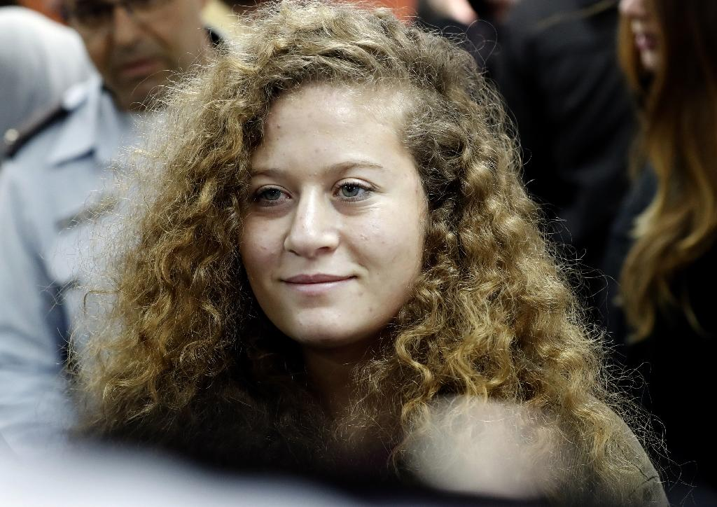 Ahed Tamimi, seen here in a file picture, was arrested in the early hours of December 19
