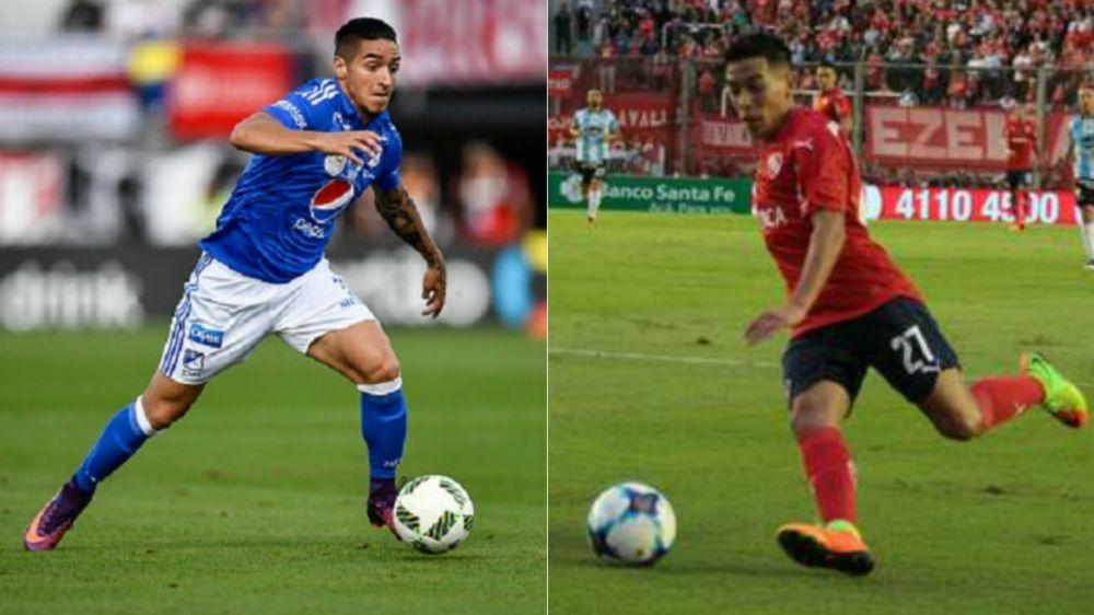 Ezequiel Barco y Cristian Arango, en la mira de Benfica
