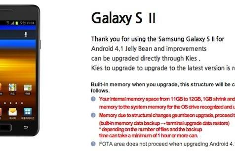 Samsung Korea posts Galaxy S II Jelly Bean update details, but not the release date