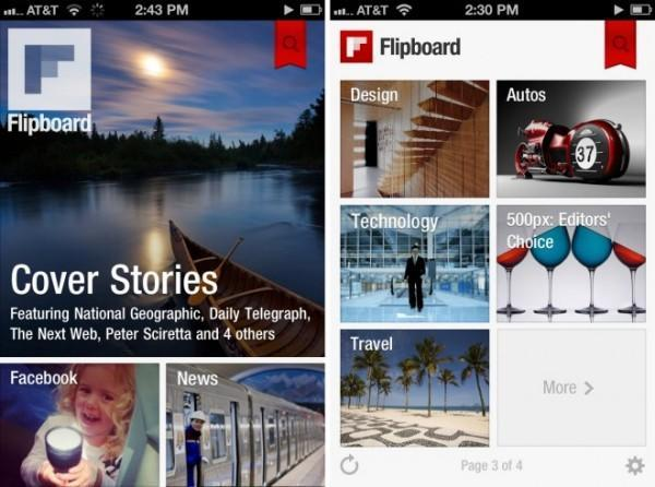 Flipboard launches on iPhone, iPod Touch, introduces 'Cover Stories' feature