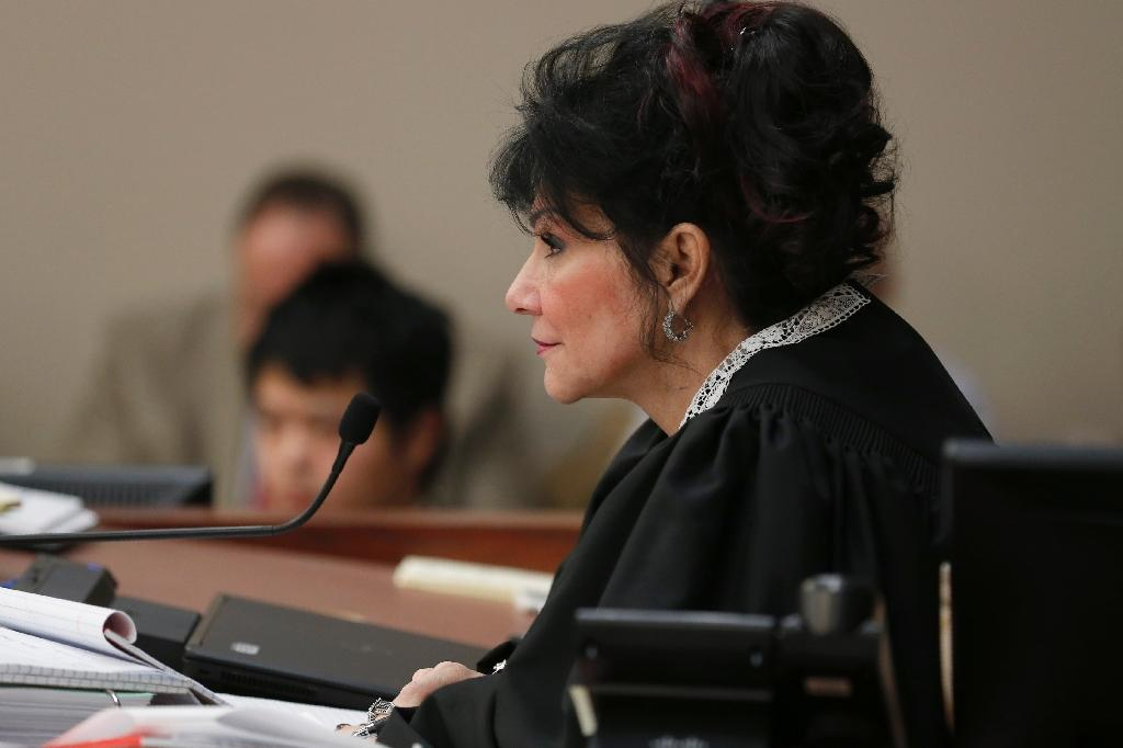 Judge Rosemarie Aquilina sentenced former USA Gymnastics doctor Larry Nassar to 40 to 175 years in prison for sexual abuse (AFP Photo/JEFF KOWALSKY)