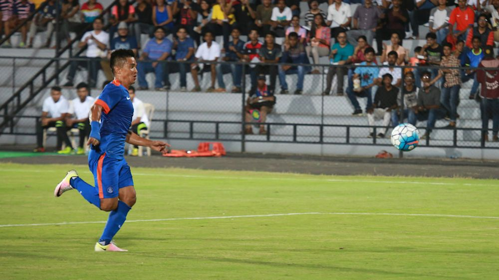2019 Asian Cup Qualification: India 1-0 Kyrgyz Republic: Sunil Chhetri's strike sends Blue Tigers atop Group A