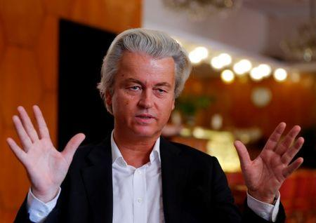 Dutch far-right Party for Freedom leader Geert Wilders answers questions during a Reuters interview in Budapest after Britain voted to leave the EU. REUTERS/Laszlo Balogh
