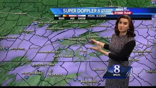 Christine Ferreira tracks wintry system