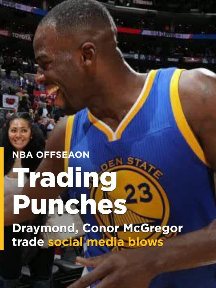 sale retailer 25a93 a095a Draymond Green, Conor McGregor trade social media blows over Warriors jersey